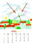 Aprile illustrazione vettoriale