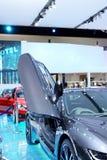 2 aprile: Automobile dell'innovazione di serie I8 di BMW Fotografia Stock Libera da Diritti