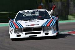 21 aprile 2018: Azionamento Lancia Martini Beta Montecarlo di Emanuele Pirro durante il festival 2018 di leggenda del motore Immagini Stock