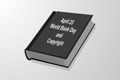 23 aprile - giorno e Copyright del libro del mondo illustrazione di stock