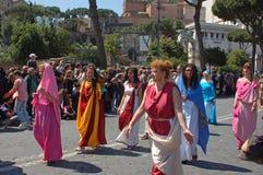 21 aprile 2014, il compleanno di Roma Immagini Stock