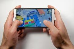 Aprile 2019 Kramatorsk, Ucraina Giochi mobili di American National Standard di applicazione immagini stock