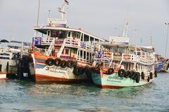 26 aprile 2016 posti turistici di Koh Larn nella città Individuato sulla t Immagine Stock Libera da Diritti