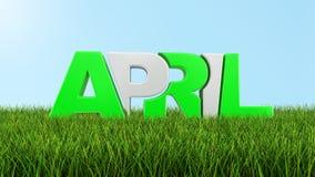 Aprile su erba (percorso di ritaglio incluso) Fotografie Stock