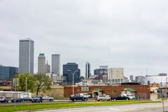 Aprile 2015 - tempo tempestoso sopra l'orizzonte di Tulsa Oklahoma Fotografie Stock