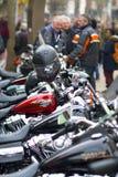 7 aprile 2018 via Northampton Regno Unito Harley-Davidson di Abington immagini stock libere da diritti