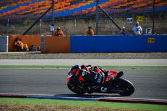 Aprilia Racing Team. Turkey, Istanbul - September 13, 2013: One round of motorcycle race named as SBK was organized in Istanbul race track in Turkey. Biker was stock image