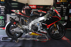 Aprilia RSV4 official racing team WSBK Royalty Free Stock Image