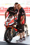 Aprilia RSV4 official racing team WSBK Royalty Free Stock Photo