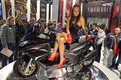 Aprilia SRV850 in EICMA 2011 Stock Photo