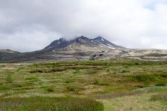 Aproaching το ηφαίστειο Στοκ Εικόνα