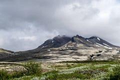 Aproaching το ηφαίστειο Στοκ Φωτογραφίες
