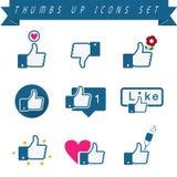 Aprobat ikony ustawiać Fotografia Stock