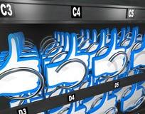 Aprobata symbolu automat Kupuje ocena przeglądy ilustracja wektor