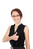 aprobaty biznesowa pokazywać kobieta Fotografia Royalty Free