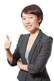 aprobaty biznesowa pokazywać kobieta Zdjęcia Stock