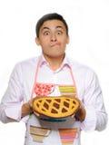 apron baked man pie tasty young Στοκ εικόνα με δικαίωμα ελεύθερης χρήσης