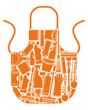 Apron for cleaning Stock Images