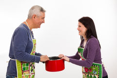 Apron couple Royalty Free Stock Photography
