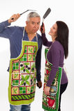 Apron couple Royalty Free Stock Image