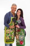 Apron couple Royalty Free Stock Photos