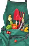 Apron gardener well filled Royalty Free Stock Photography