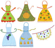 Apron set with vegetables Royalty Free Stock Images