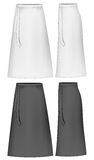 Apron skirt. Vector illustration contains mesh Royalty Free Stock Photo