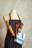 Apron With Utensils Stock Photos