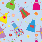 Aprons kitchen seamless pattern Royalty Free Stock Photo