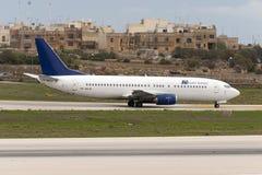 737 aprontam-se para decolam Foto de Stock