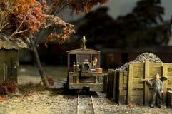 Apronte para encher o trem com o C Fotografia de Stock Royalty Free