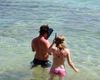 Apronte para snorkel Imagem de Stock