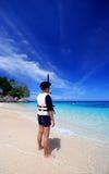 Apronte a snorkeling Imagem de Stock Royalty Free