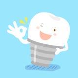 Aprovação da mostra do dente a você Foto de Stock Royalty Free