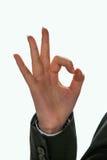 APROVAÇÃO e três do gesto Fotos de Stock