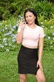 Aprovação Filipina Adult Female jovem foto de stock royalty free