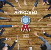 Aprovado aceite o conceito do original da autoridade do acordo imagens de stock royalty free