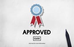 Aprovado aceite o conceito do original da autoridade do acordo foto de stock