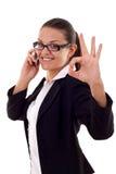Aprovado no telefone Imagem de Stock