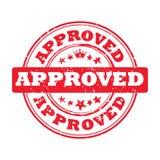 Aprovado - sinal imprimível vermelho Imagem de Stock Royalty Free