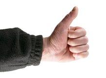 Aprovação positiva do gesto de mãos Foto de Stock Royalty Free