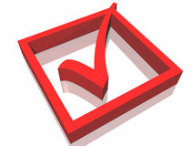 Aprove o símbolo Imagens de Stock