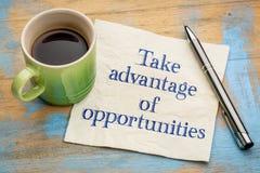 Aproveite-se de oportunidades Imagem de Stock