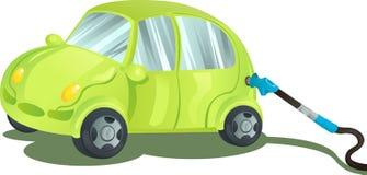 Aprovisionar de combustible un coche con gasolina Imagen de archivo libre de regalías