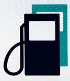 Aprovisione de combustible el pictograma Fotografía de archivo libre de regalías