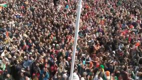 Aprox 10 milion peoples hoasting the tricolor flag of INDIA at Shaheen bagh