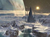 Aproximação à torre do amanhã Imagem de Stock Royalty Free