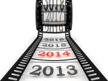 Aproximação ao ano novo 2014 Fotografia de Stock Royalty Free