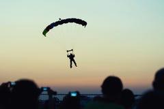 Aproximação de Skidiver imagens de stock